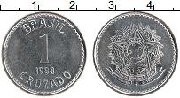 Изображение Монеты Бразилия 1 крузадо 1988 Железо UNC- Герб