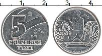 Изображение Монеты Бразилия 5 крузейро 1990 Железо UNC-