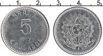 Изображение Монеты Бразилия 5 крузадо 1987 Железо UNC-