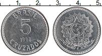 Изображение Монеты Бразилия 5 крузадо 1988 Железо UNC- Герб