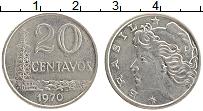 Изображение Монеты Бразилия 20 сентаво 1970 Медно-никель XF