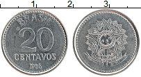 Изображение Монеты Бразилия 20 сентаво 1986 Железо UNC- Герб