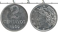 Изображение Монеты Бразилия 2 сентаво 1969 Железо UNC-