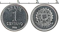 Изображение Монеты Бразилия 1 сентаво 1986 Железо UNC-