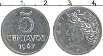 Изображение Монеты Бразилия 5 сентаво 1967 Железо XF Республика