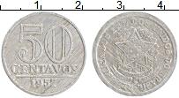 Изображение Монеты Бразилия 50 сентаво 1957 Алюминий XF Герб