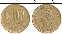Изображение Монеты Аргентина 10 сентаво 1974 Латунь XF