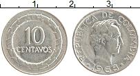 Изображение Монеты Колумбия 10 сентаво 1968 Медно-никель XF Симон Боливар