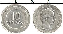 Изображение Монеты Колумбия 10 сентаво 1967 Медно-никель XF Симон Боливар