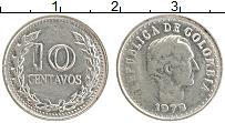 Изображение Монеты Колумбия 10 сентаво 1972 Медно-никель XF