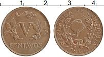Изображение Монеты Колумбия 5 сентаво 1968 Медь XF Флора
