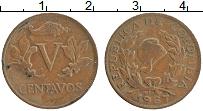 Изображение Монеты Колумбия 5 сентаво 1967 Медь XF Флора