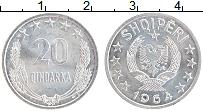 Изображение Монеты Албания 20 киндарка 1964 Алюминий UNC- Герб