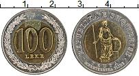 Изображение Монеты Албания 100 лек 2000 Биметалл UNC-