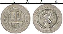 Изображение Монеты Бельгия 10 сентим 1862 Медно-никель XF Герб. Леопольд I