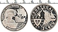 Изображение Монеты Португалия 2 1/2 экю 1991 Медно-никель Proof- Генрих Навигатор