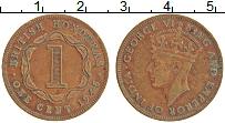 Изображение Монеты Белиз 1 цент 1945 Бронза XF Британский Гондурас.