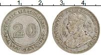 Изображение Монеты Стрейтс-Сеттльмент 20 центов 1927 Серебро XF Георг V
