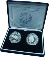 Изображение Подарочные монеты Великобритания Елизавета II 0 Серебро Proof- В набор входят две м