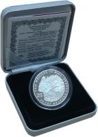 Изображение Подарочные монеты Казахстан 500 тенге 2015 Серебро Proof 70 лет Великой Побед
