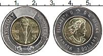 Изображение Мелочь Канада 2 доллара 2020 Биметалл UNC 75 лет окончания II