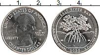 Изображение Мелочь США 1/4 доллара 2020 Медно-никель UNC Бухта Солёной реки.