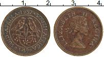 Изображение Монеты ЮАР 1/4 пенни 1957 Бронза XF Елизавета II
