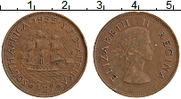 Изображение Монеты ЮАР 1/2 пенни 1955 Бронза XF Елизавета II