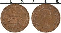 Изображение Монеты ЮАР 1/2 пенни 1956 Бронза XF