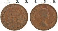 Изображение Монеты ЮАР 1 пенни 1957 Бронза XF
