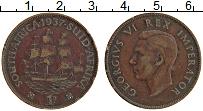 Изображение Монеты ЮАР 1 пенни 1937 Бронза XF Георг V