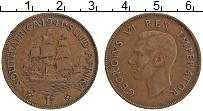 Изображение Монеты ЮАР 1 пенни 1941 Бронза XF Георг V