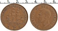 Изображение Монеты ЮАР 1 пенни 1946 Бронза XF