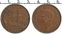 Изображение Монеты ЮАР 1 пенни 1952 Бронза XF Георг V