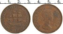 Изображение Монеты ЮАР 1 пенни 1953 Бронза XF
