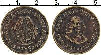 Изображение Монеты ЮАР 1/2 цента 1964 Бронза XF Ян ван Рибек