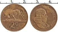 Изображение Монеты ЮАР 2 цента 1965 Медь XF Ян ван Рибек