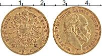 Изображение Монеты Пруссия 20 марок 1872 Золото XF- Вильгельм I. С (КМ#
