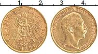 Изображение Монеты Пруссия 20 марок 1909 Золото XF+ Вильгельм II (КМ# 52