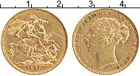 Изображение Монеты Австралия 1 соверен 1879 Золото XF