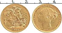 Изображение Монеты Австралия 1 соверен 1882 Золото XF Виктория (КМ# 7 Проб