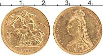 Изображение Монеты Великобритания 1 соверен 1889 Золото XF