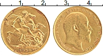 Изображение Монеты Австралия 1 соверен 1908 Золото XF