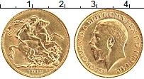 Изображение Монеты Великобритания 1 соверен 1912 Золото XF+ Георг V (КМ# 820 Про