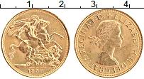 Изображение Монеты Великобритания 1 соверен 1958 Золото UNC