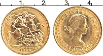 Изображение Монеты Великобритания 1 соверен 1966 Золото UNC Елизавета II  (КМ# 9