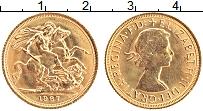 Изображение Монеты Великобритания 1 соверен 1967 Золото UNC