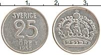 Изображение Монеты Швеция 25 эре 1955 Серебро XF