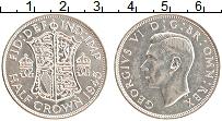 Изображение Монеты Великобритания 1/2 кроны 1945 Серебро UNC Георг VI