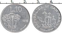 Изображение Монеты Сан-Марино 10 лир 1993 Алюминий UNC